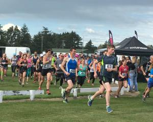 Competitors head off in a past edition of the Salmon Run. Photo: Supplied