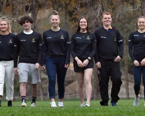 Otago Academy of Sport athletes (from left) Ben Mason (19), Dyani Shepherd-Oates (20), James...
