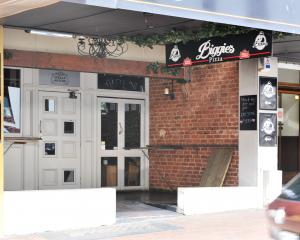 Biggie's Pizza in Stuart St, Dunedin. PHOTO: CHRISTINE O'CONNOR
