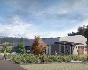 A view from southeast of the proposed new Luggate Memorial Centre. IMAGE: SALMOND ARCHITECTURE...