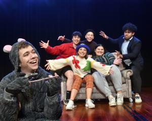 George MacGill plays a rat that can cook in the Otago university students' 2020 capping show...