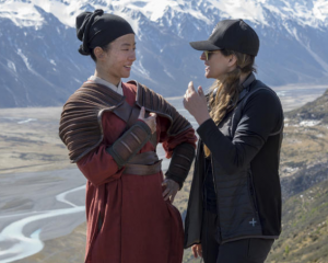 Niki Caro (right) on the set of Mulan Photo: Supplied via RNZ