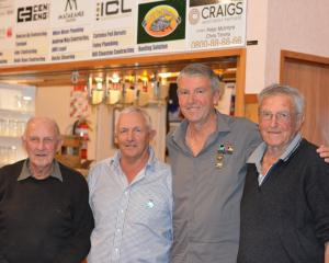 Club stalwarts (from left) Jim Morgan, Richard Morgan, Graham Sinnamon and Lionel Sinnamon at the...