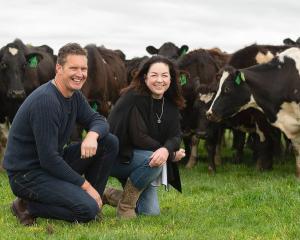 Brent and Rebecca Miller on farm. PHOTO: NATWICK STUDIOS