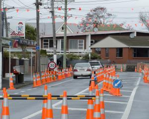 Roadworks at the intersection of Forbury, Bay View and Allandale Rds are expected to be ongoing...