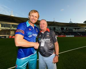 Sir Graham Henry and Scott Robertson will lead Team Rugby for the 2021 Black Clash. Photo: Getty...