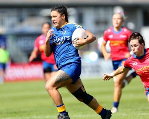 Hinemoa Watene on her way to the line during Otago's dominant win over Tasman. Photo: Getty Images