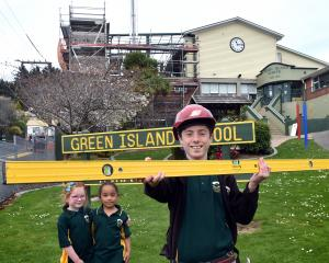 Excitement is building for Green Island School pupils (from left) Lucy Taylor (5), Tepaeru Vahua ...
