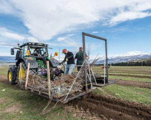 Ross Kirk designed this planting machine which has increased planting efficiency. PHOTO: SUPPLIED