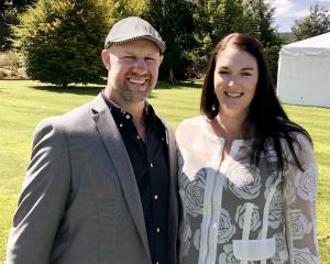 Marist Albion stalwart Rowan O'Gorman and wife Jennifer, who is battling breast cancer.