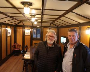 Wakatipu Community Preservation Society secretary Jeff Williams (left) and trustee Steve Kirk in...