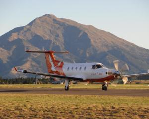 A Sounds Air Pilatus PC12 aircraft at Wanaka Airport. PHOTO: SUPPLIED