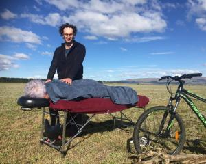 Massage therapist Blair Jones in his element.PHOTO: MARY-JO TOHILL