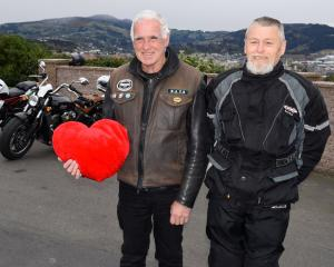Bikers Rights Organisation of New Zealand Otago president John Russell (left) and vice-president...