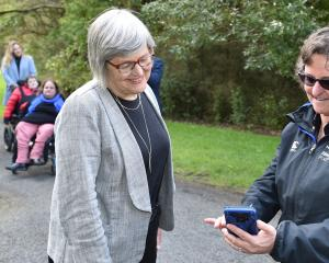 Minister of Conservation Eugenie Sage and Halberg Foundation lead adviser Bridget Meyer check out...