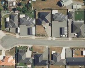 An aerial photo of properties in Renwick shows the differences in grass colours. Photo: Supplied...