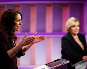 Jacinda Ardern and Judith Collins in a TVNZ debate last month. PHOTO: REUTERS