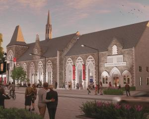 An artist's impression of redeveloped museum from Rolleston Ave. Image: Canterbury Museum