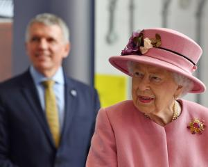 Queen Elizabeth visited the top secret Defence Science and Technology Laboratory, in Porton Down,...