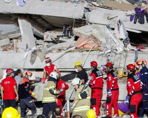 The strong quake destroyed buildings in the coastal province of Izmir in Turkey. Photo: Reuters