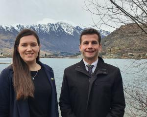 Act New Zealand deputy leader Brooke Van Velden and party leader David Seymour in Queenstown...