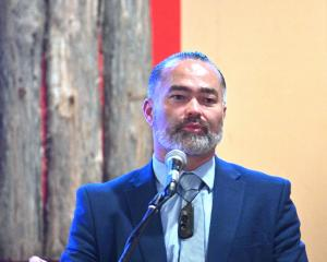 Advance New Zealand co-leader Billy Te Kahika addressed a large crowd at the Arai Te Uru marae...