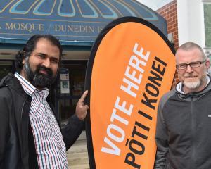 Otago Muslim Association president Dr Rizwan Mohammed (left) and deputy chairman Steve Johnston...