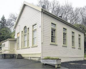 The 133-year-old infants' building at Arthur Street School which is to be relocated by the...