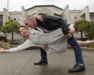 Modern Jive Dunedin dancers Glen and Sheree MacPherson, of Balclutha, practise their moves in...