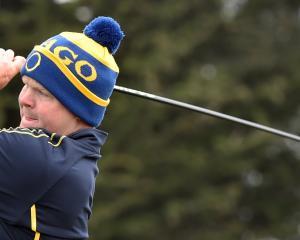 Otago golfer Ben Patston shows the style which gave him an unbeaten weekend at St Clair Golf Club...