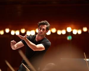 New Zealand assistant conductor-in-residence Vincent Hardaker rehearses. PHOTO: SUPPLIED