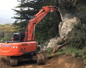 Demolition of the boulder was completed over the weekend. Photo: Fulton Hogan