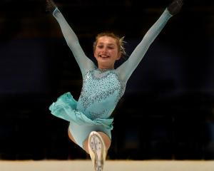 Dunedin ice figure skater Brooke Cathro (11) prepares for the nationals, which will be staged at...