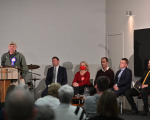 At a meet the candidates meeting at the Musselburgh Baptist Church last month are Taieri...