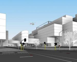 Latest design proposal of Dunedin's new hospital. Image: Warren and Mahoney Architects