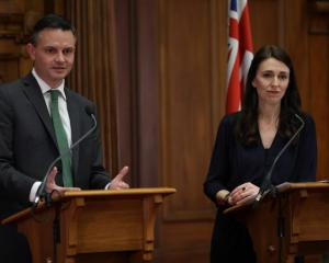Green Party co-leader James Shaw and Labour leader Jacinda Ardern. Photo: RNZ