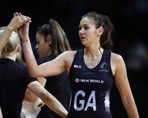 Ameliaranne Ekenasio after the Silver Ferns win over South Africa. Photo: Getty Images