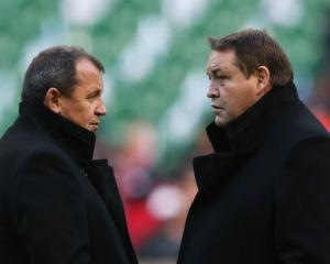 Ian Foster and Steve Hansen. Photo: Getty Images