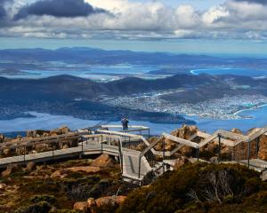 A view of Hobart from Mount Wellington in Tasmania. Photo: Getty