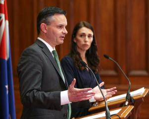 Green Party co-leader James Shaw and PM Jacinda Ardern. Photo: Getty Images