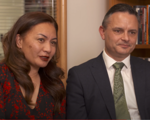 Co-leaders Marama Davidson and James Shaw. Photo: RNZ