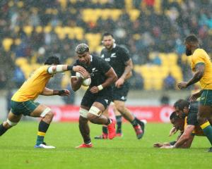 Hoskins Sotutu will get his first All Black start in this weekend's Bledisloe Cup match. Photo:...