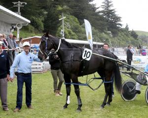 Peter Smith, left, and his son Ben along with driver Ricky May, enjoyed success with Wainui...