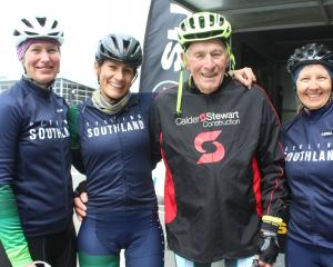 Southland cyclists (from left) Kara Roderick-Wandless, Nicole Avery and Nicola Stevens joined...