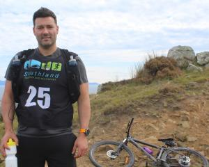 Invercargill resident Ignacio Sande waits for his three team members at the Bluff transition...