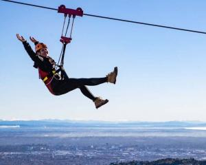 Ziplining at Christchurch Adventure Park is one of the many activities in Canterbury. Photo:...