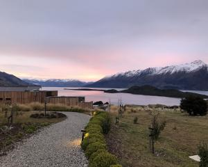 It's worth getting up at dawn to see the stunning view across Lake Wakatipu from Aro Ha retreat....