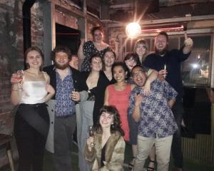 The Critic Te Arohi team celebrates a successful night at the Aotearoa Student Press Awards in...