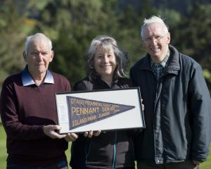 Island Park Golf Club stalwarts (from left) Colin Clapperton, Robyn Harrex and Neil Hall reflect...