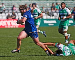 Liam Coltman on the charge for Otago against Manawatu recently. PHOTO: GETTY IMAGES